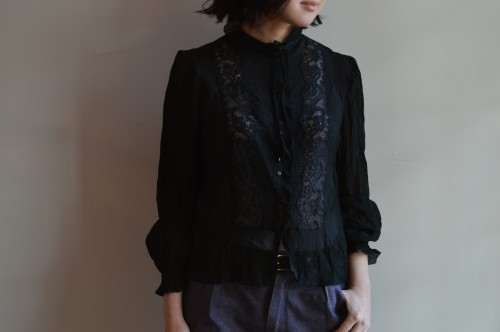 Antique Silk Lace Blouse (1800年代後半) ¥60,000+tax