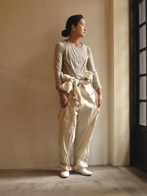 Vintage Jump Suit Sold Cut&Sewn : Toujours Shoes : Porselli ¥28,000+tax Earrings : Vintage Trifari ¥16,000+tax