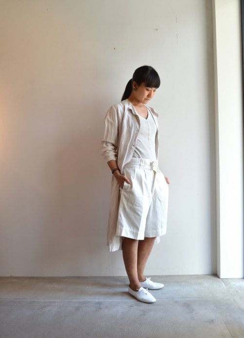 Inner : Schiesser :12,000+tax Onepiece : Vintage ¥72,000+tax Shoes : Porselli ¥28,000+tax Earrings : Vintage Miriam Haskell ¥35,000+tax