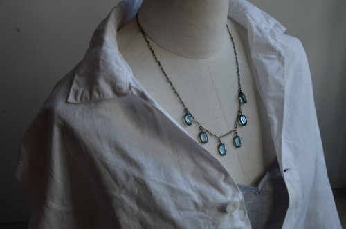 1920's Art Deco Midnight Blue Necklace ¥38,000+tax