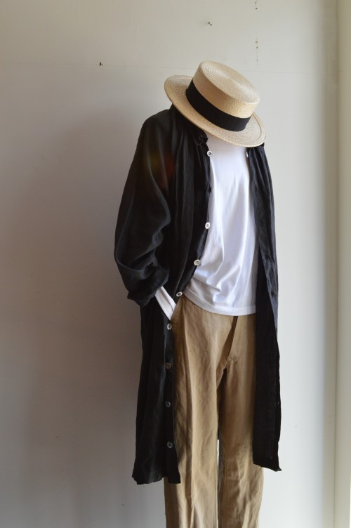 1900's Vintage Linen Smock : ¥120,000+tax Inner : SUNSPEL Bottoms : Greece Military ¥9,800+tax