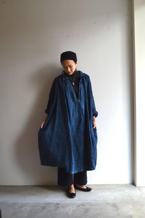 Vintage Indigo Linen Smock ¥138,000+tax