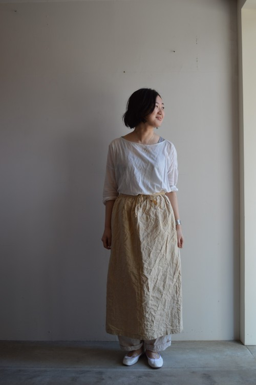 French Vintage Linen Apron ¥15,000+tax