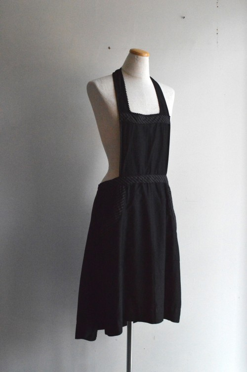 French Vintage Black Apron ¥19,000+tax