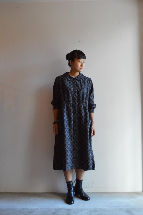 French Vintage Pattern Dress ¥38,000+tax