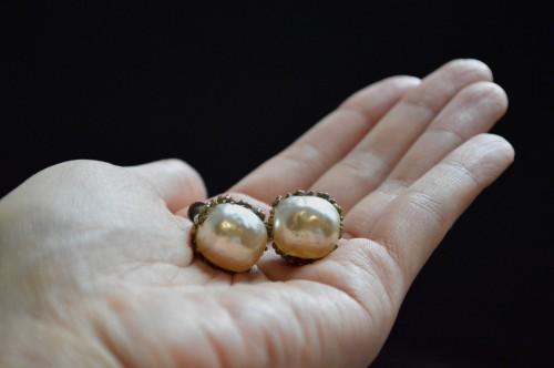 Vintage Miriam Haskell Baroque Pearl Earrings ¥31,000+tax