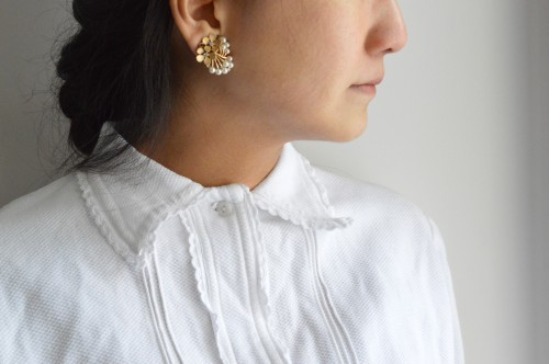 Trifari Flower Earrings : ¥19,000+tax