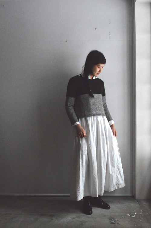 Sweater : CABINET Dress : Antique Cotton Lace Dress