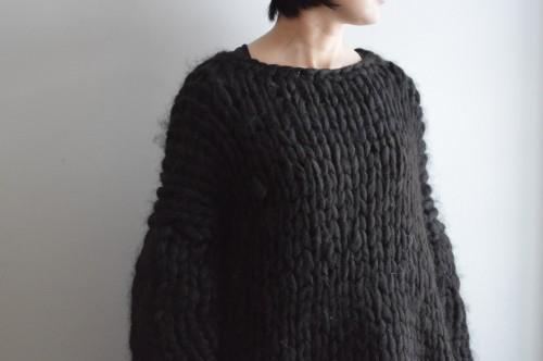 CABINET Black Alpaca Sweater : ¥88,000+tax