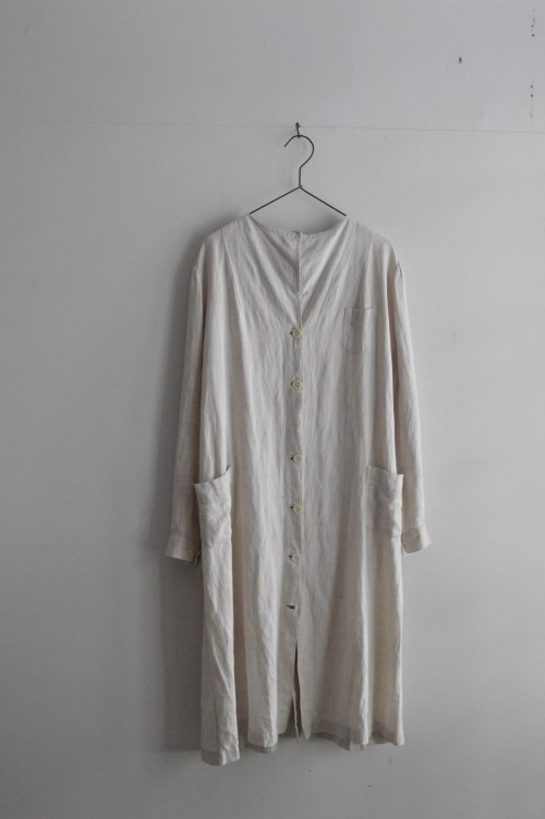 1920's Vintage Linen Work Coat : ¥88,000+tax