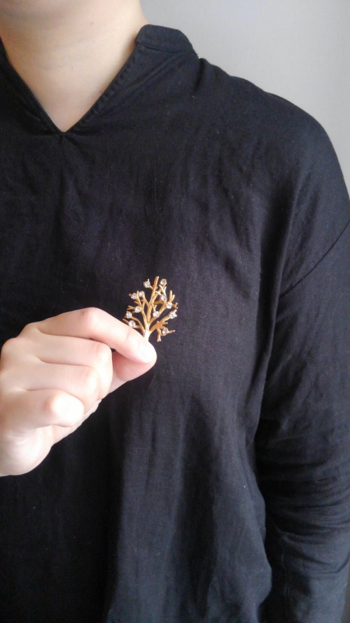 Vintage Tree Brooch (12K) : ¥18,000+tax