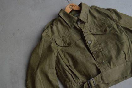 British Army Green Denim Blouse