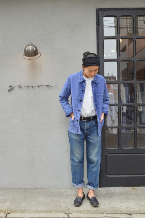 Earring :Vintage ¥14,000+tax Shirts : Vintage ¥25,000+tax Denim : Levi's ¥15,000〜 Belt : M.F. SADDLERY ¥11,000+tax