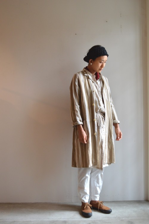 Earrings :Vintage Miriam Haskell Onepiece : Frank Leder Bottoms : Military Shoes : ANATOMICA