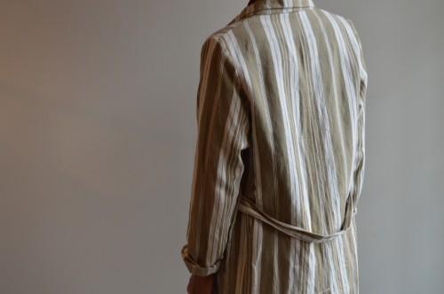 Vintage Fabric Stripe Coat ¥25,000+tax