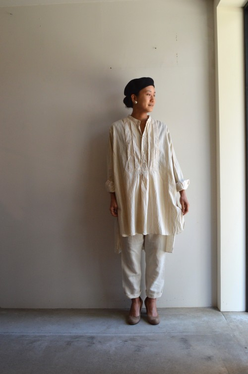 Beret : ANATOMICA Earrings : Vintage Miriam Haskell Bottoms : TOUJOURS Shoes : 私物