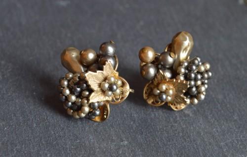 Miriam Haskell Flower Earrings ¥35,000+tax