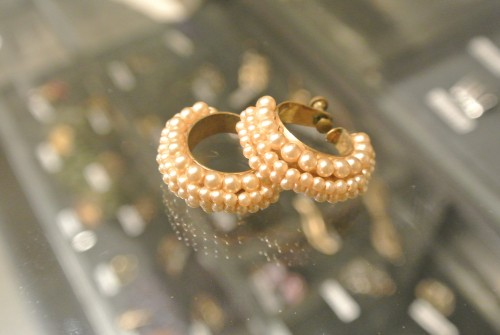 Vintage Pearl Foop Earrings ¥13,000+tax