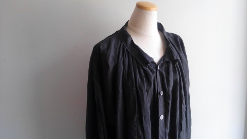 1900's Vintage Black Linen Farmers Smock ¥120,000+tax