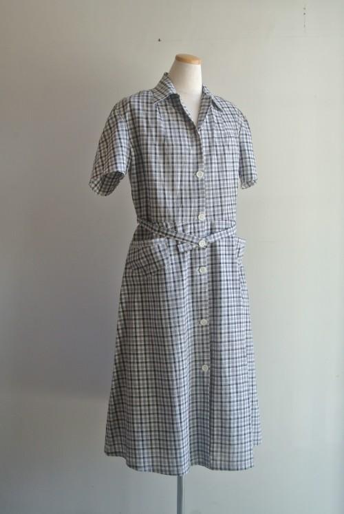 1940's Cotton Dress Dead Stock (未使用) ¥29,000+tax
