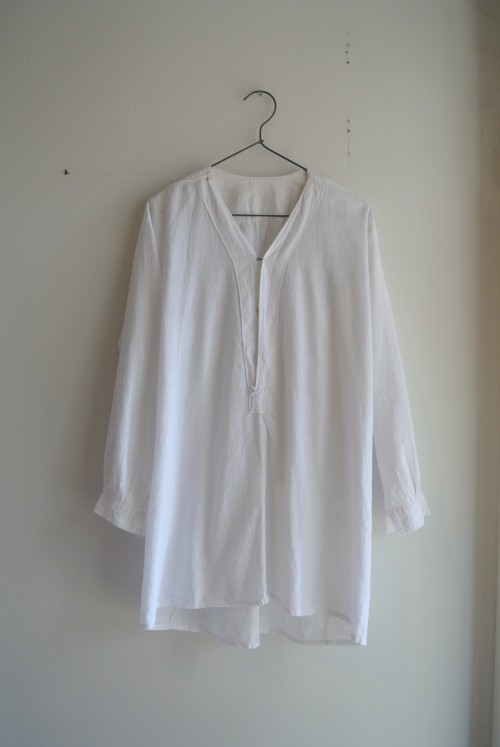 Vintage Cotton White Shirts ¥25,000+tax