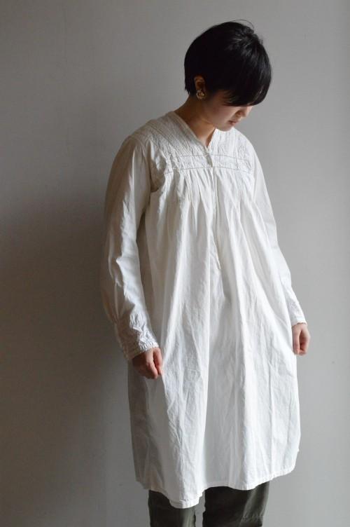 (着用スタッフ162㎝) 1900〜1920's Antique Cotton Lace Dress ¥46,000+tax