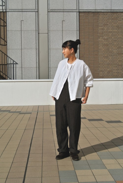 Blouse : Antique ‥以下Juilletアイテム‥ Overall : Garment Reproduction Of Workers Shoes : Paraboot