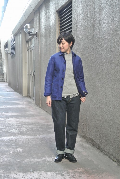Jacket : Vintage ‥以下Juilletアイテム‥ Shirts : Nisica Knit : Northerncrofter Denim : OMNIGOD Shoes : Paraboot