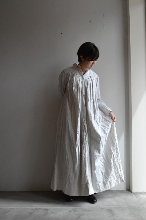 Antique Linen Long Dress ¥72,000+tax