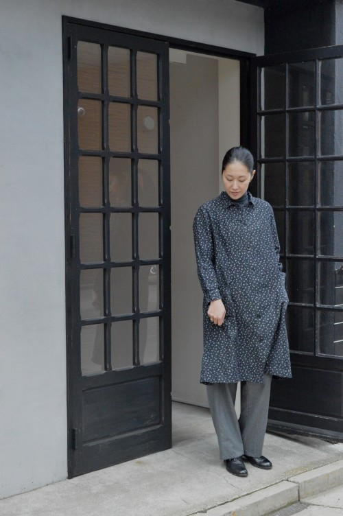 Vintage Pattern Work Dress ¥42,000+tax