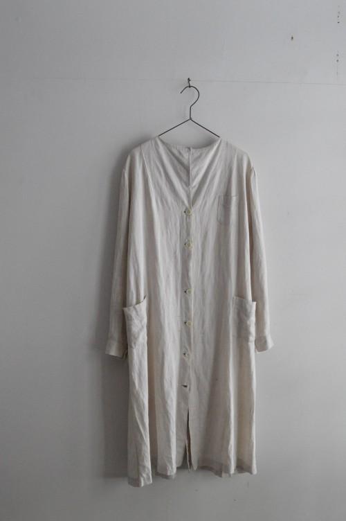 1920's Vintage Linen Work Coat : ¥88,000+tax