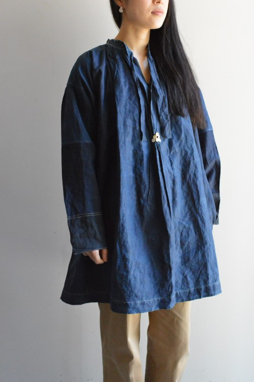 Antique Indigo Linen Badu : ¥138,000+tax