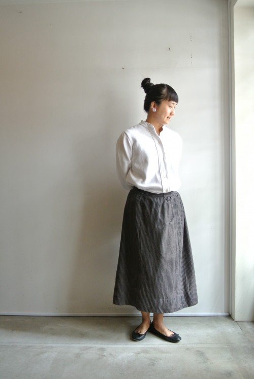 Blouse : Antique Skirt : Antique Shoes : repetto Earrings: Vintage Miriam Haskell