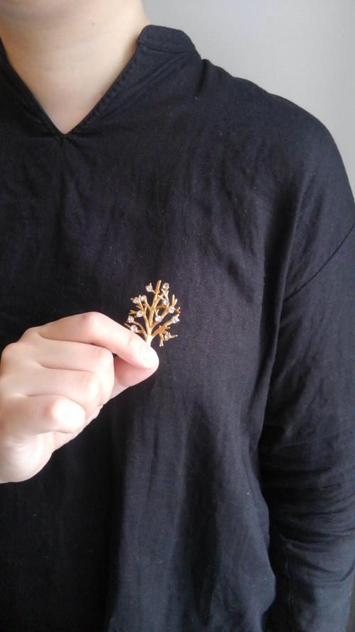 Vintage Tree Brooch (12K) : ¥18,000+tax