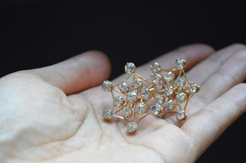 Vintage Rhinestone Earrings : ¥15,000+tax