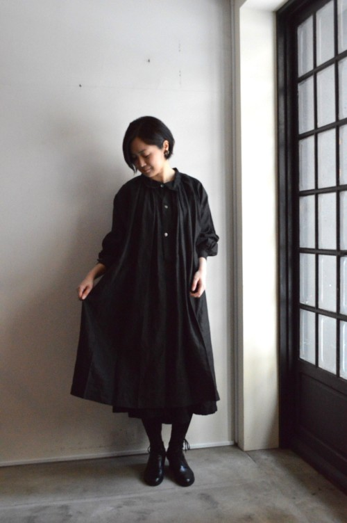 1900's Antique Black Indigo Smock (Dead Stock 未使用) ¥148,000+tax