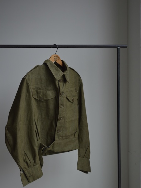 British Army Green Denim Blouse
